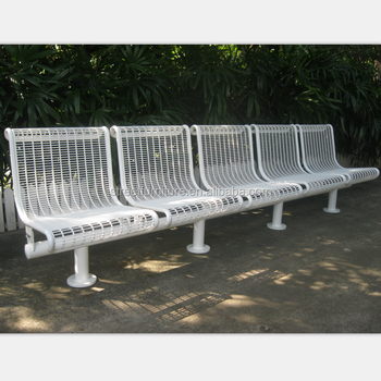 5 Seat Park Metal Bench Garden Chair Public Seating Bus Stop