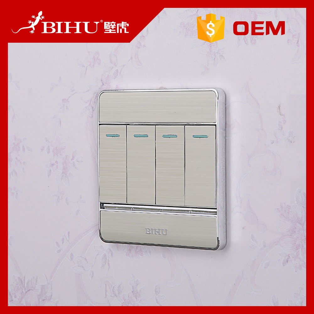 Bihu 4 gang model switch socket electrical wall switch 86 size auto on off light switch