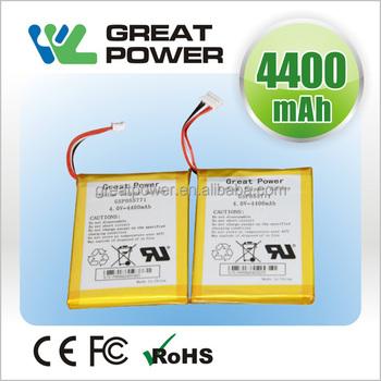 3.7v Lithium Polymer Battery Gsp055771