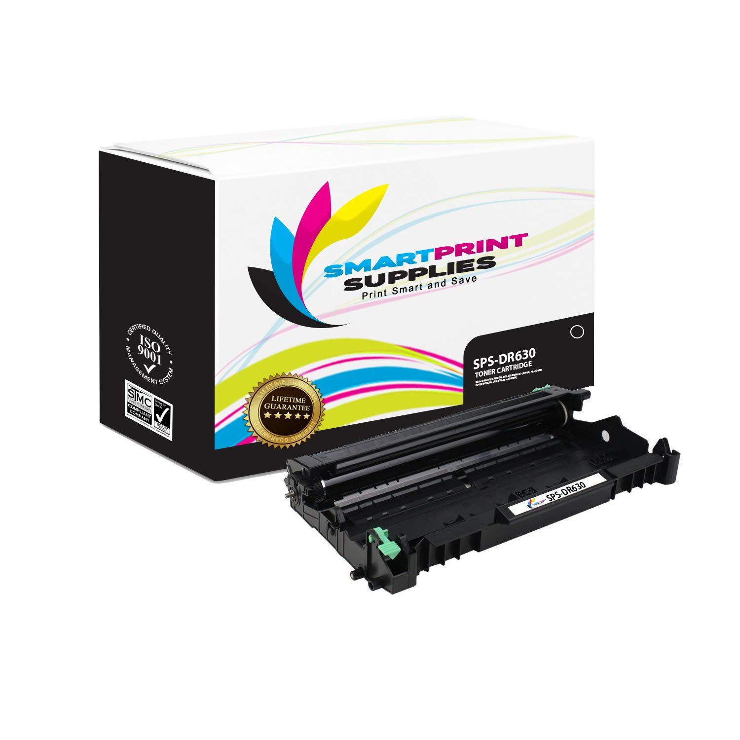 Smart Print Supplies DR630 Compatible Drum Unit Replacement for Brother DR-630, DCP-L2520 L2540, HL-L2300 L2305 L2320 L2340 L2360 L2380, MFC-L2700 L2720 L2740 Printers (12,000 Pages)