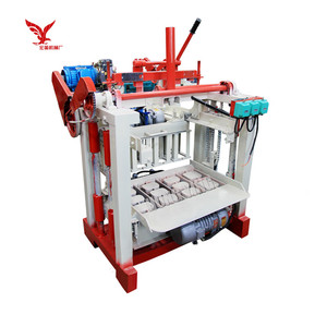 QMJ4-35A concrete block machine moulds manual brick making machinery for sale