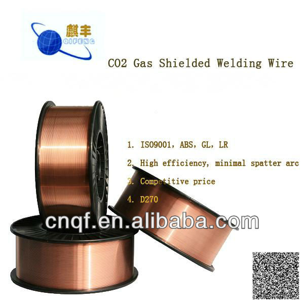Copper Coated Co2 Welding Wire Er70s-6 (0.8mm 1.0mm 1.2mm) - Buy Co2 ...