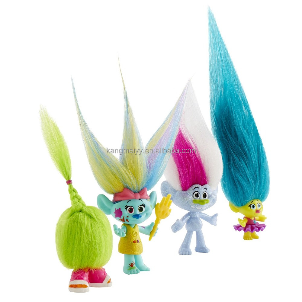 Hotsell!! DreamWork Trolls Wild Hair Play set Pack dolls for kids toy