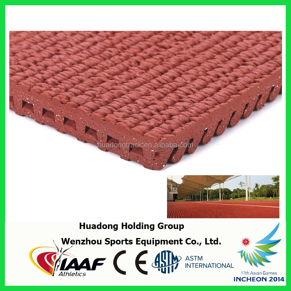 2014 Asian Games Supplier, 14mm synthetic rubber running tracks, athletic track