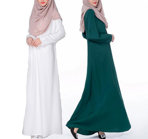 A3289 Fashion Muslim Women Ladies Arab Thobe In Solid Color Ethnic Abaya