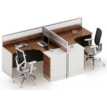 Moderne L Form Büromitarbeiter Schreibtisch Arbeitsplatzmöbel Für