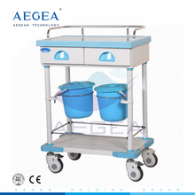 AG-MT032 Multifunction hospital metal frame cheap wheeled tool cart