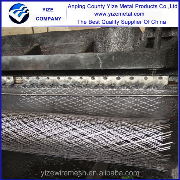 Bended expanded metal wall panels/electro galvanized expanded wire mesh/Black aluminum gutter guard mesh