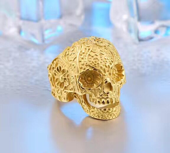 2017 New Arrival Silver Cool Skull Ring Fashion 316L Stainless Steel Jewelry Factory Price Skull Cool Man Finger Rings