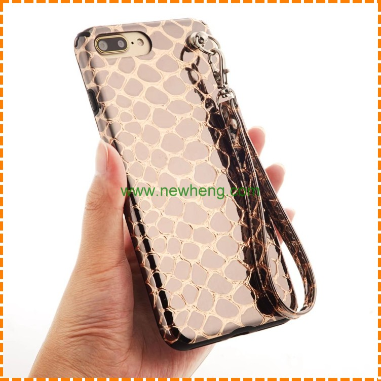 New Products soft Leather Case for Iphone 6, for Iphone 6 Snake Pattern Back Cover case