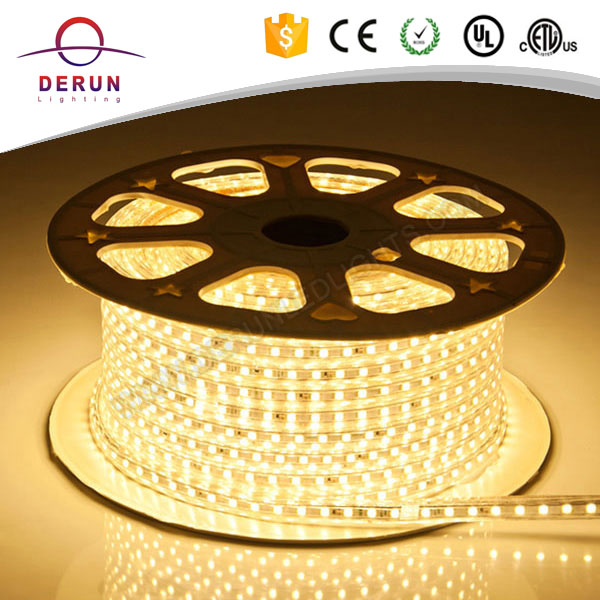 Hot sell 2 years warranty waterproof 50meter roll 120v led tape light