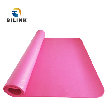 Bilink Best quality promotional custom label extra thick 10mm NBR yoga mat rolls