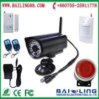 40 wireless zones gsm gprs auto digital cctv camera system infrared security alarm system with sim card output DVR BL-E9