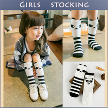Hot Sale 2D 3D Pandas Pattern Cute Kids Stockings Kawaii Girls Boys Stockings Baby Leg Warmers