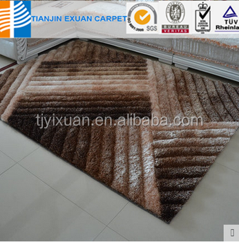 Shaggy Polyester Living Room Floor 3D Rugs