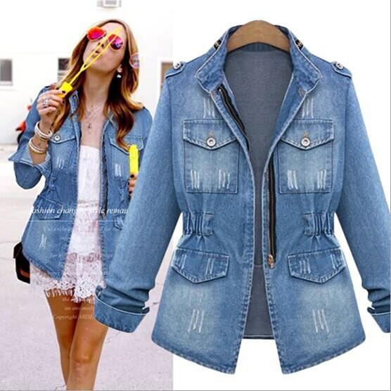 Compra chaquetas de jeans de mujer online al por mayor de