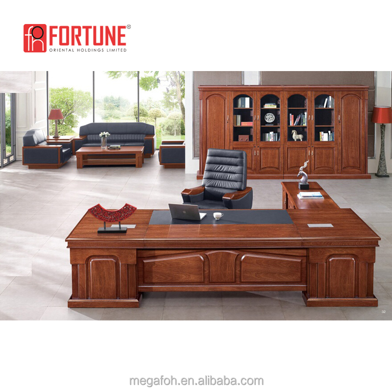 Office Furniture Mahogany Wooden Boss