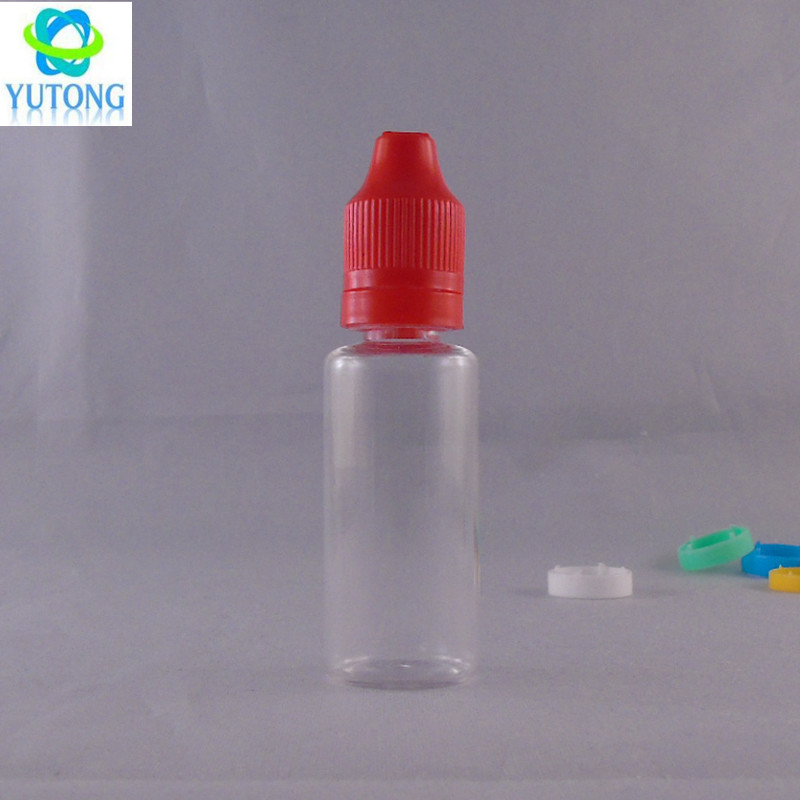 20ml plastic cosmetic pet clear plastic bottle with tamper evident cap