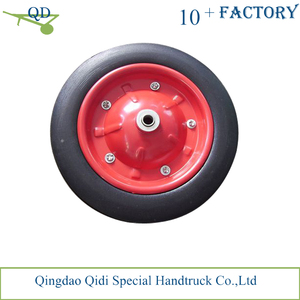 factory wholesale price 13*3 prevent puncture Solid rubber wheel for wheelbarrow