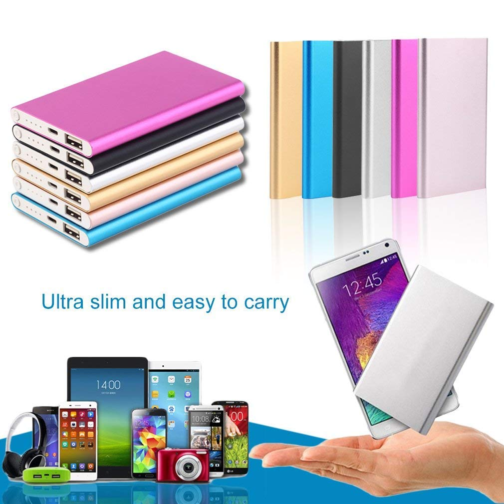 slivery 10400MAH, External Power Bank, Mobile Phone, Battery Charger, Power Supply Super Thin 10400MAH External Power Bank Mobile Phone Battery Power Charger