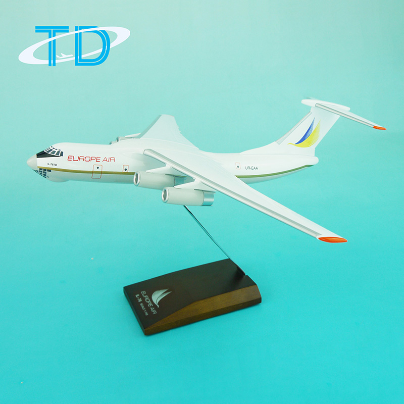 Fancy resin modellen EUROPA AIR IL-76 (30 cm) china model rc vliegtuigen