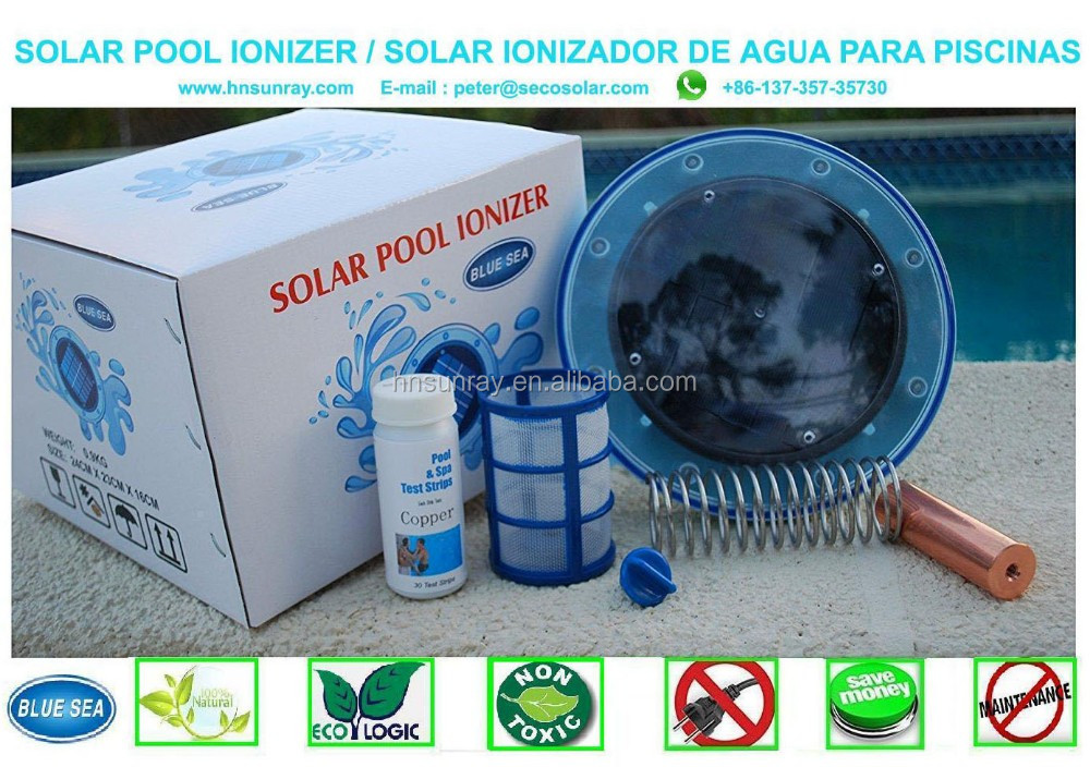 Solar swimming pool ionizer, View solar pool ionizer, solar pool ionizer  Product Details from Haining Sunray Solar Energy Co., Ltd. on Alibaba.com