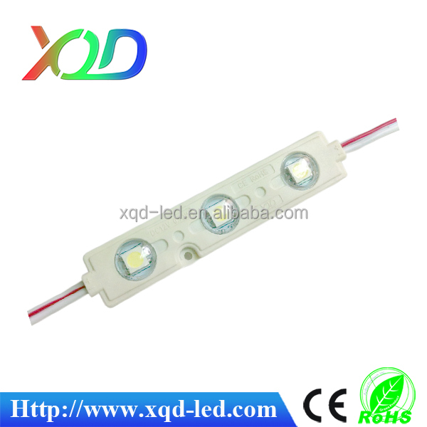 shenzhen XQD waterproof smd5050 injection leds module with lens for logo letters