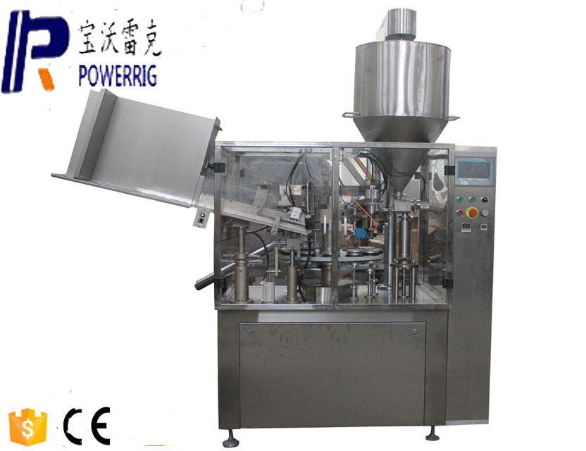 Collapsible aluminum tube filler sealer machine for aluminum tube
