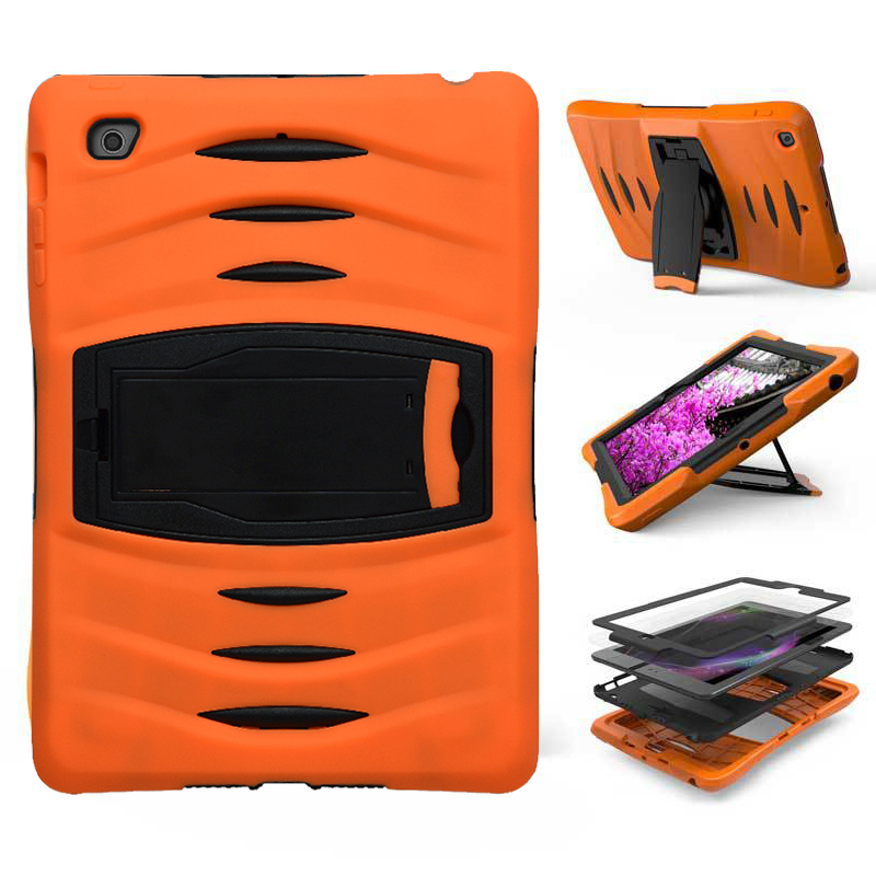 For Ipad Air 2 3 4 Case Silicone Stand Cover Armor Shockproof Shell Heavy Duty Hard Tablet Case