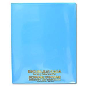 StoreSMART - School / Home Folders - Light Blue - 25-Pack - Archival Durable Plastic - English/Spanish - Homework and Information - SH900SVSP-LB25