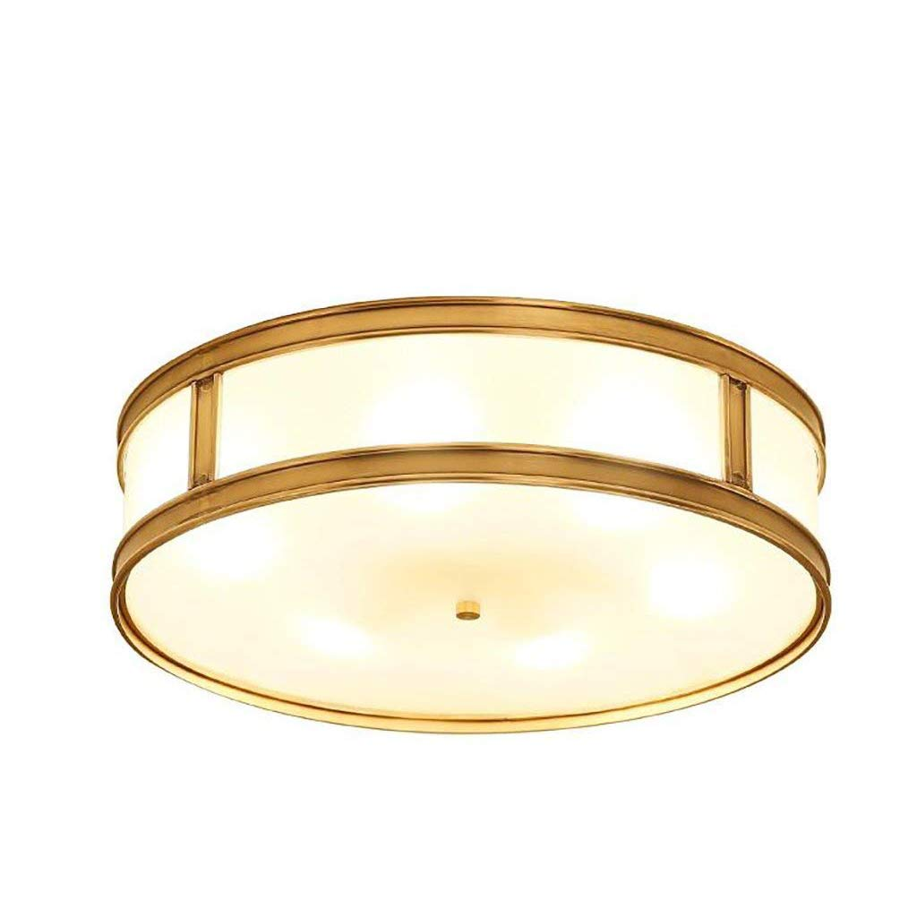 LED Ceiling Light - Bedroom Living Room 21W-31W Incandescent lamp, 45/12CM Copper Ceiling lamp