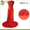 red sequin lace fabric latest dress design french net lace textile NQ070-12