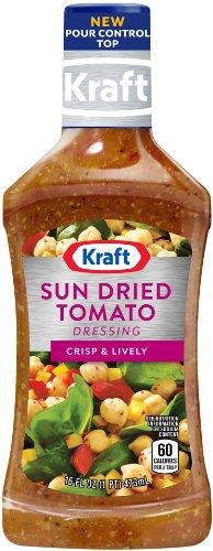Kraft Sun Dried Tomato Vinaigrette Dressing & Marinade, 16-Ounce Plastic Bottles (Pack of 6)