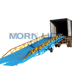 Heavy loading hydraulic mobile/ electric container dock ramp