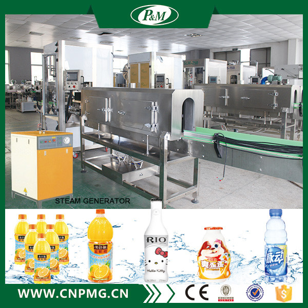 Zhangjiagang Electric Bottle Sleeve Label Heat Steam Shrink Tunnel Wrapping Machine