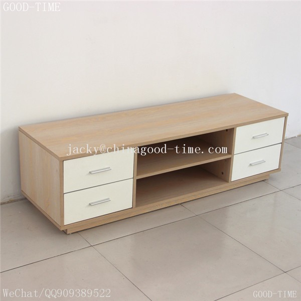 Wooden Grain Melmained Mdf Particle Board Large Tv Stand Pictures
