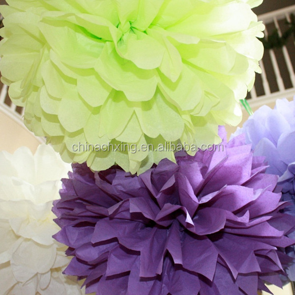 Rainbow Mixed Size Tissue Paper Pom Poms Lanterns Decorations