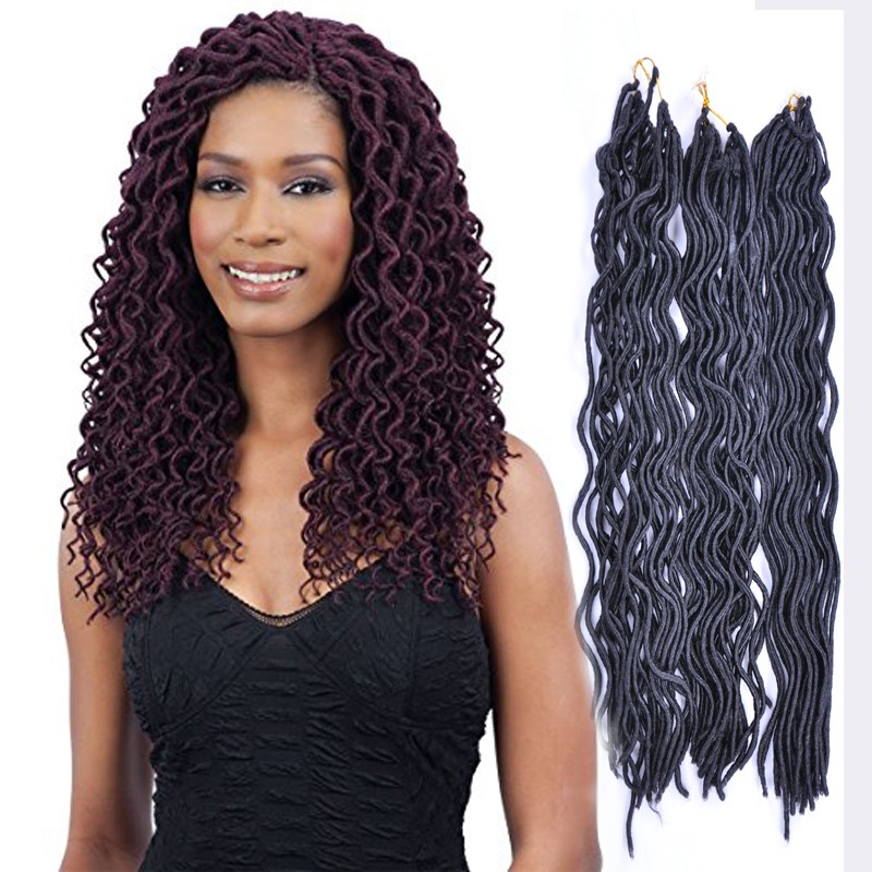 Faux locs curly crochet hair 20 inch 100g 24 roots synthetic black faux locs curly crochet hair 20 inch 100g 24 roots synthetic black brown blonde winered braid pmusecretfo Choice Image