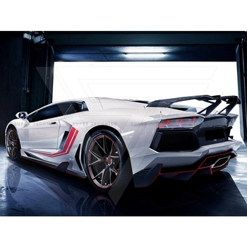 Rev Torado Style Carbon Fiber Rear Spoiler Rear Wing For Lambo