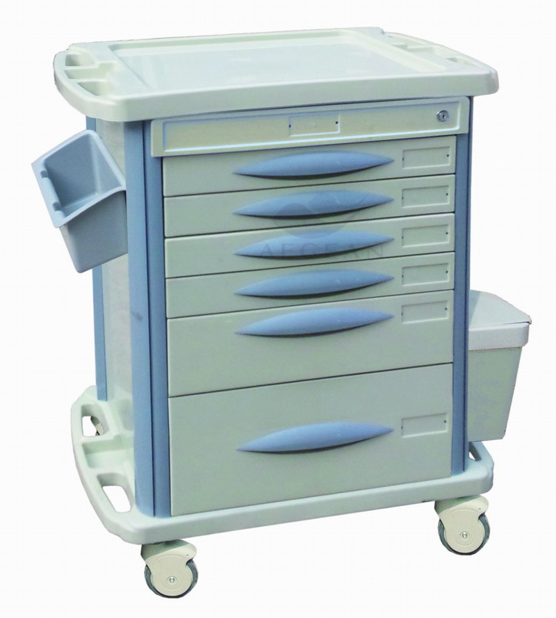 Ag Mt003b3 Economic With Six Drawers Hospital Durable Microwave Cart