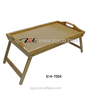 factory price bamboo tv folding dinner trays, bed trays with legs with customized design and FDA, LFGB certificate