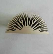 Custom Extruded Semi Circle /Curved Aluminum Heat Sink Profile Manufacture