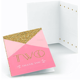 Gold metallic foil stamp thank you cards custom with logo 36 48 100 Pack 4x6 Inch blank card