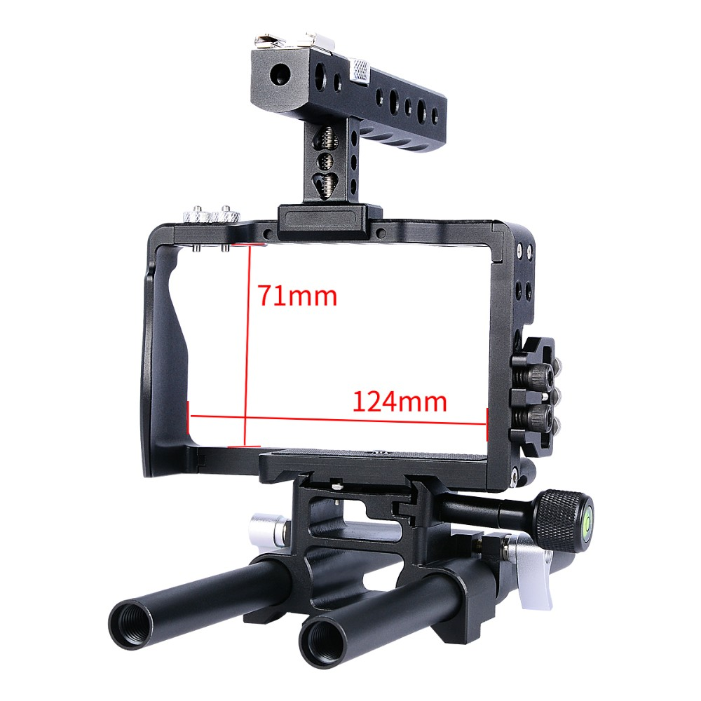 2017 Newest YELANGU C6 Handheld Camera Cage Professional Portable Camera Removable Protective Equipment For DSLR