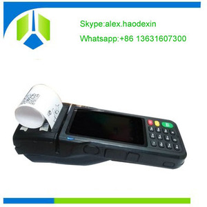 4 inch mobile Android pos terminal with thermal printer GSM NFC handheld pos terminal GC062