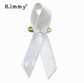 "3/8"" White Cancer Awareness Ribbon Pins Charms - Buy Cancer Awareness Ribbon Svg"