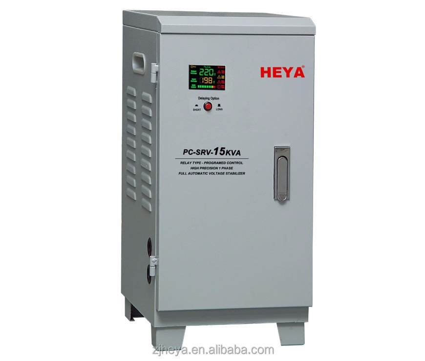 15KVA color LED display relay control single phase full automatic AC voltage stabilizer