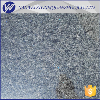 Customized Modern Style Granite Angola Black Color With Blue