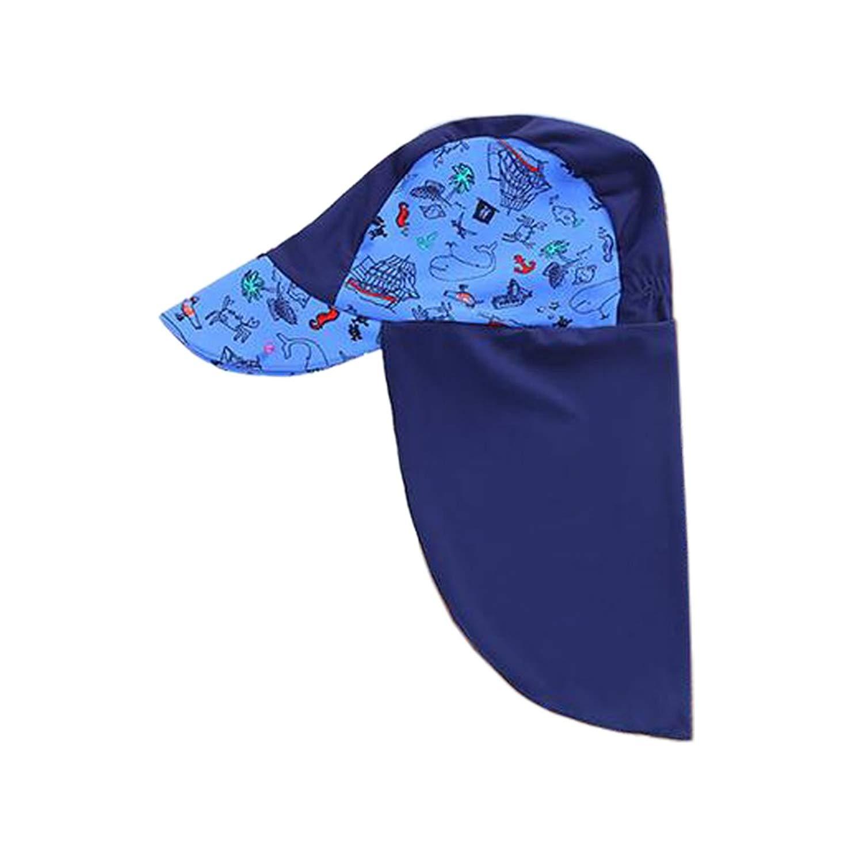 140cc7cf901 Get Quotations · Fenteer Adjustable Children UPF 50+ Anti-UV Summer Beach Sun  Hat Neck Flap Protection
