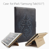 Multifunctional table case genuine leather cover with card holder stand function for ipad air